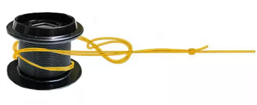 привязывание лески к шпуле катушки